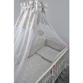 Canopy over crib Pony - gray