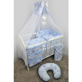 Canopy over crib Lama - blue, Ankras