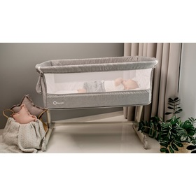 Travel cot to bed parents Theo - light grey, Lionelo