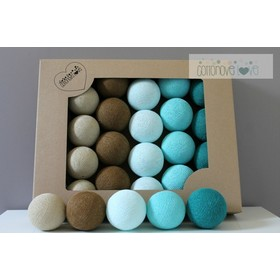 Cotton illuminating ICE marbles Cotton Balls - turquoise, cotton love