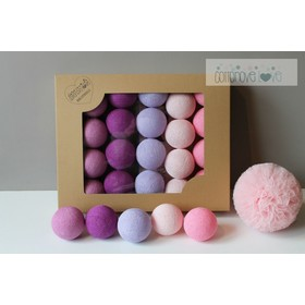 Cotton illuminating ICE marbles Cotton Balls - light berry, cotton love