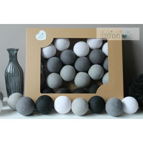 Cotton illuminating ICE marbles Cotton Balls - graphite, cotton love