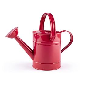 Watering can red, Woody