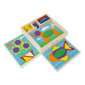 Wooden puzzle - Mosaic - colors and shapes, Melissa & Doug
