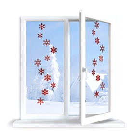 Stickers to window - pattern 10 snow flakes