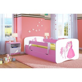 Ourbaby Children's Bed with Safety Rail - Princess with Horse, Ourbaby