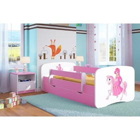 Ourbaby Children's Bed with Safety Rail - Princess on Horse, Ourbaby