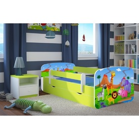 Ourbaby Children's Bed with Safety Rail - Safari