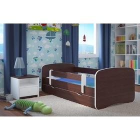 Ourbaby Children's Bed with Safety Rail - Wenge, Ourbaby