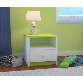 Ourbaby children nightstand - green-white, Ourbaby