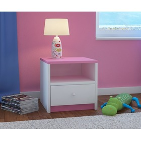 Ourbaby children nightstand - pink and white, Ourbaby