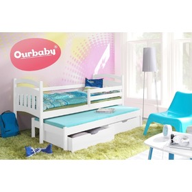 Ourbaby children's bed with extra bed Marco I - White, Ourbaby