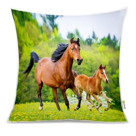 Cushion HORSES 02, Mint Kitten