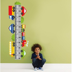 Wall Decoration - Height Chart and Cars, Housedecor