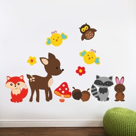 Wall Decoration - Fawn and Animals, Housedecor