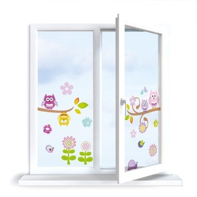 Stickers to window - Owlet - 0,3 m2, Mint Kitten