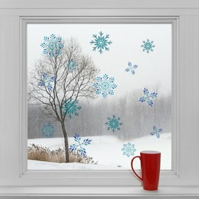 Christmas decoration to window - Snow flakes, Housedecor