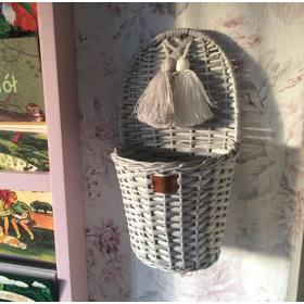 LILU Wicker basket on wall LU - gray, LILU