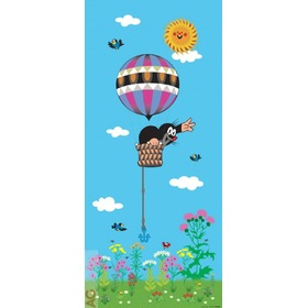 The Mole and Hot Air Balloon Children's Wall Mural, A&G Co., Little Mole