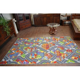 BIG CITY Children's Rug - Grey, F.H.Kabis