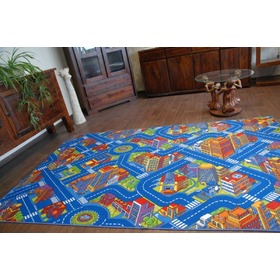 Children's rug BIG CITY - blue, F.H.Kabis