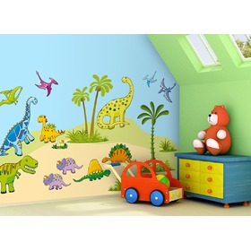 Self-adhesive wall decoration Dinosaurs