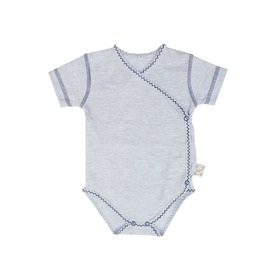 Body baby with short sleeve blue, Gluck Fashion