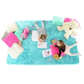 AZURE Children's Plush Rug