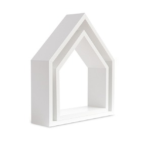 Shelf house white, funwithmum