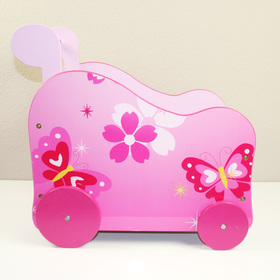 Baby motorcycleriage for dolls Butterflies, Homestyle4u