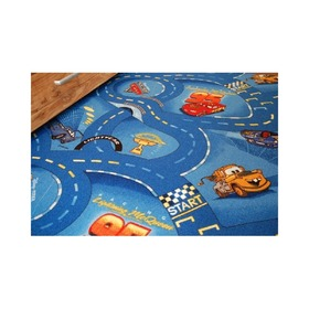 CARS Children's Rug - Blue Streets, F.H.Kabis, Cars