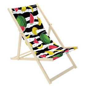 Beach chair Melons and bananas, CHILL