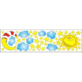 Window stickers - sun month stars - 0,3 m2, Mint Kitten