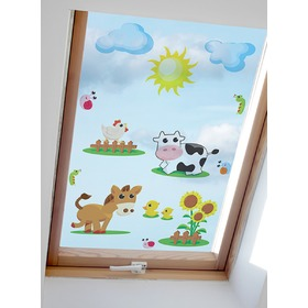 Stickers to window - Farm pattern 2 - 0,3 m2, Mint Kitten