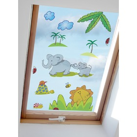 Window stickers - Safari pattern 1 - 0,3 m2, Mint Kitten