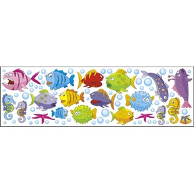 Window stickers - Fish 0,3m2, Mint Kitten