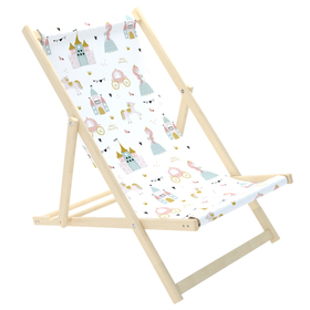 Children's beach lounger Princess and lock, CHILL