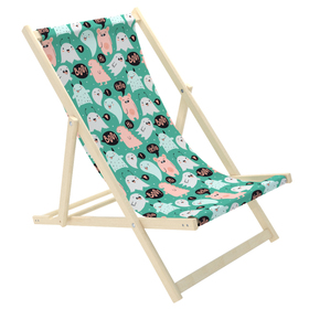Children's beach lounger Monsters and specter, CHILL