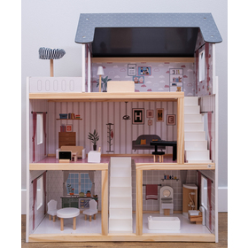Wooden house for Amélie dolls, Ourbaby