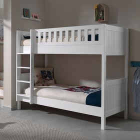 Children's bunk bed Lewis - white, VIPACK FURNITURE