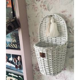 LILU Wicker basket on wall LU - white, LILU