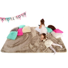Cappuccino Children's Plush Rug