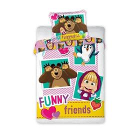 Children's bed linen 135x100 + 60x40 cm Masha and bear Friends