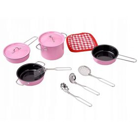 Set dishes to childrens kitchenettes - pink, EcoToys