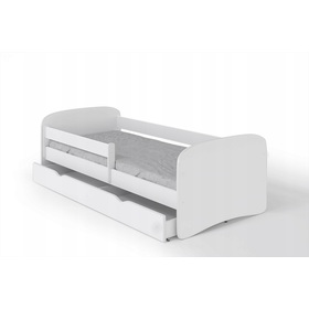Baby bed with Ourbaby barrier - white, All Meble