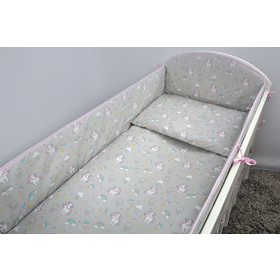 Crib bedding set 120x90cm Pony - grey, Ankras
