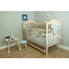 Baby Cot Alek with adjustable side - natural, Ourbaby