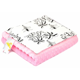 Baby blanket and pillow M Safari - pink, Dreamland