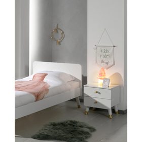 Billy bedside table - white, VIPACK FURNITURE